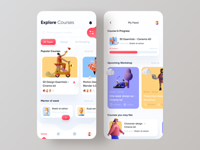 Educational app mentor ofspace courses class design system edtech education education app e-learning event app learning app learning platform minimal mobile app online school school students study user experience (ux) userinterface dribbble best shot
