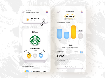 Fintech | Banking for freelancer 3d shadow income expense trendy design minimal uxdesign uidesign product design budget app designer application app design app concept analytics dashboard analytics chart analytics app