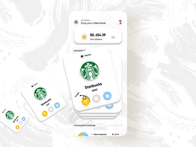 Fintech | Banking for freelancer 3d shadow income expense trendy design minimal uxdesign uidesign product design budget app designer application app design app concept analytics dashboard analytics chart analytics app