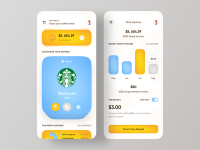 Fintech | Banking for freelancer analytics chart dashboard ui analytics app analytics ui app concept design app application ui designer budget app product designs uidesigns uxdesign minimal trendy design expense tracker income shadow 3d