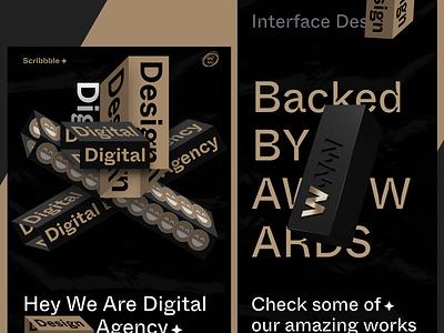 Design Agency | Exploration Project 🏀 websitedesign website dribbble darktheme agency designagency awwwards uxdesign uidesign landingpage typography webdesign minimal productdesign