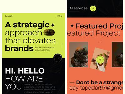 Digital Agency | Exploration Project portfolio homepage marketingpage marketing design dribbble colorful agency website landingpage typography uidesign uxdesign designer web websitedesign webdesign