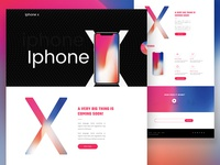 iPhone x landing page exploration