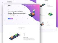 Courier service web design exploration