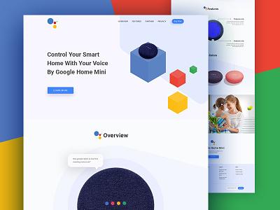Google home mini landing page concept landingpage webui design graphic design branding webdesign uiux google home mini google