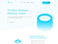 Landing page for techno
