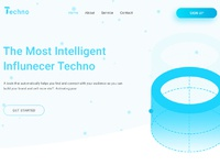 Landing page for techno header