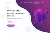 Crypto currency retail landing page j