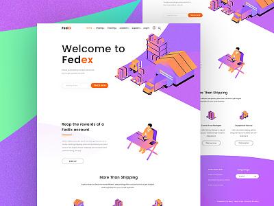 Fedex Redesign webdesign web uxdesign landingpage cryptocurrency bitcoin uidesign courier fedex