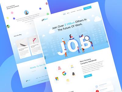 Job Landing For Candidate fireart creative landingpage ui ux job landing new illustration webdesign expert hire job