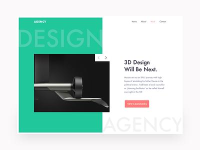 Agency Portfolio Concept ui ux web webui branding minimal typography graphic design websitedesign design landingpage uxdesign uidesign webdesign table design portfolio header