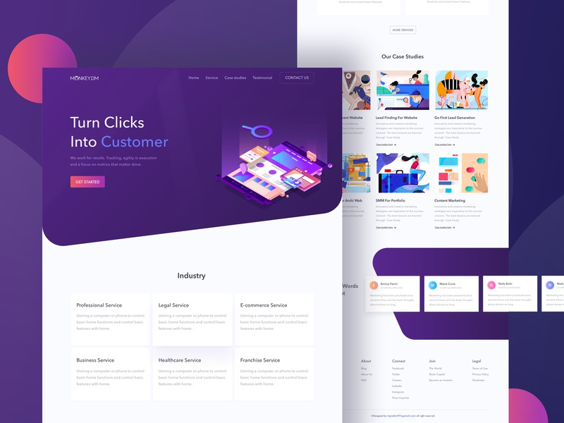 Digital Marketing Agency ui8 kit web product card homepage table design product dribbble header illustration typography minimal landingpage uxdesign uidesign webdesign websitedesign agency landing page digitalmarketing