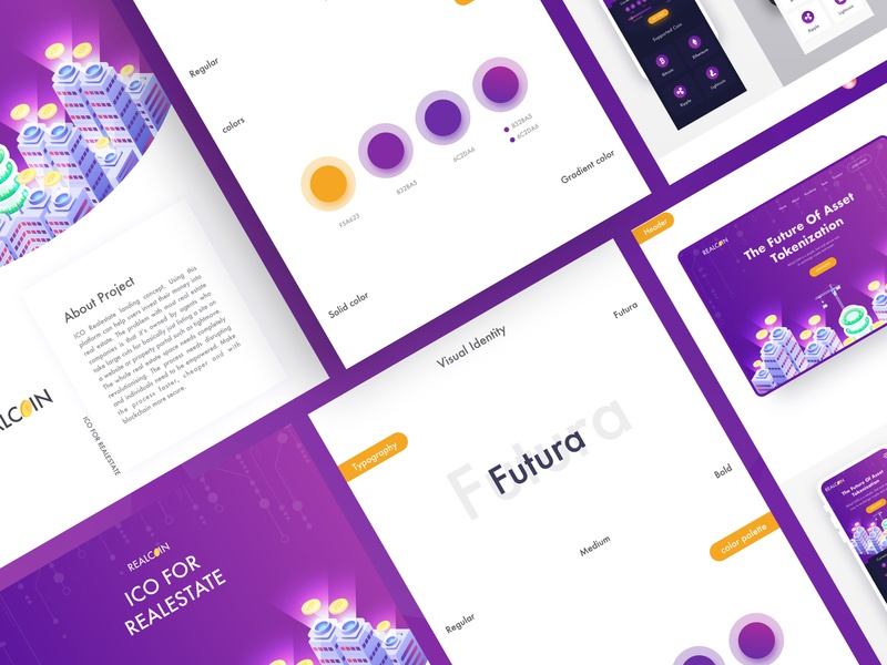 Realcoin - ICO For Realestate homepage table design agency real estate re design table product branding typography header graphic design minimal illustration landingpage uxdesign uidesign webdesign websitedesign bitcoin cryptocurrency