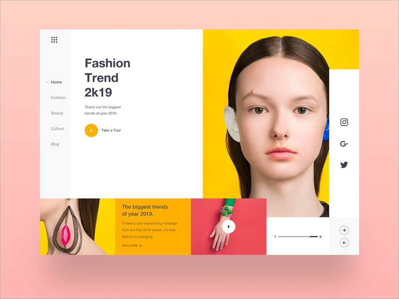 Web UI Layout uiux yellow team dribbble trend 2019 fashion table design homepage color table design product typography header minimal uidesign uxdesign landingpage websitedesign webdesign