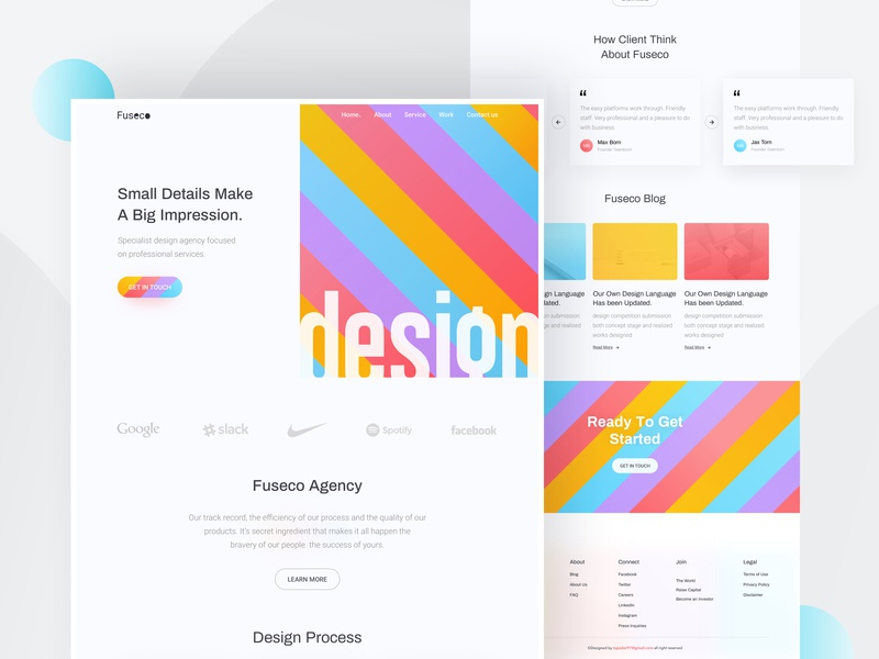 Design Agency - Homepage agency color trend trend 2019 futuristic ui product table typography homepage design header minimal uxdesign uidesign landingpage websitedesign webdesign dribbble digital hiwow design agency
