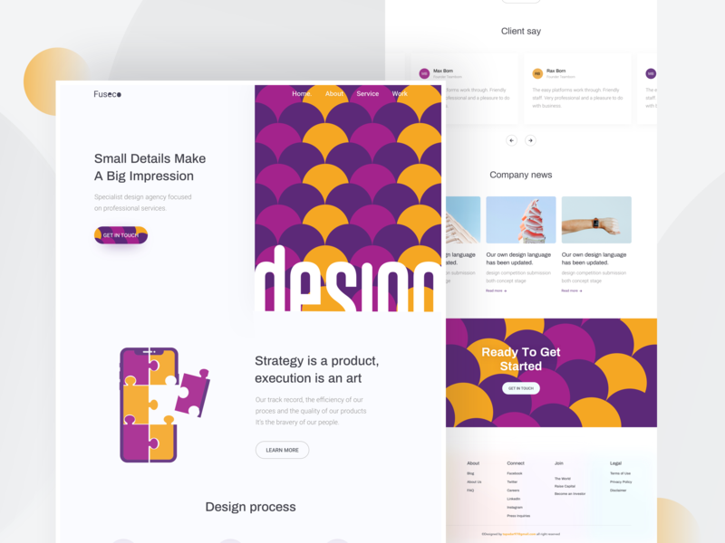 Design Agency  - Homepage hiwow dribbble web design landingpage minimal webdesign websitedesign uidesign uxdesign header homepage typography table product futuristic ui trend 2019 trend color agency