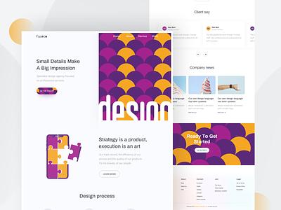 Design Agency  - Homepage ui8 kit hiwow dribbble web design landingpage minimal webdesign websitedesign uidesign uxdesign header homepage typography table product trend 2019 color agency