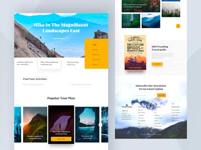 Travel Website - Homepage hiwow news homepage color table product typography header minimal design websitedesign landingpage uxdesign uidesign webdesign 2019 trend travel article