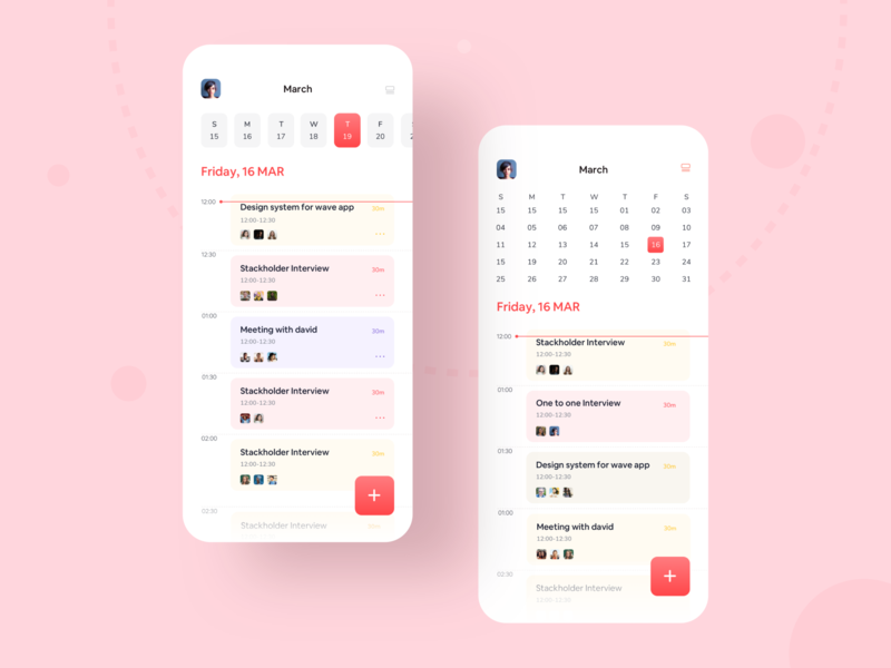 Task Management App app concept modern app design colorful trending schedule hiwow trend 2019 mobileappdesign app mobile typography minimal design uxdesign uidesign