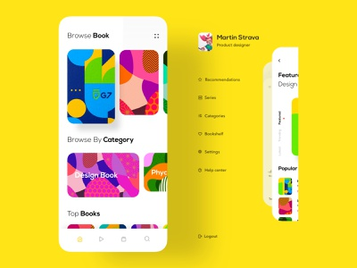 Podcast App uxdesign userinterface user experience uidesign typography trending design trend 2019 product designs podcast music player modern app design minimal application hiwow dribbble colorful app book audiobook app designer app
