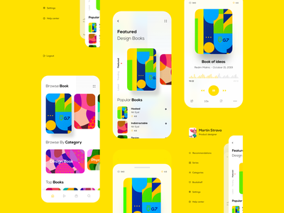 Podcast app trend 2019 product designs modern app design application app designer trending design hiwow user experience userinterface podcast product header webdesign typography minimal design uxdesign uidesign