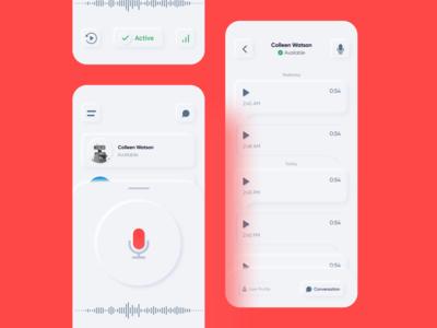 Walkie Talkie App- skeumorph