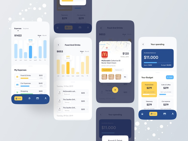 Budget Planner App hiwow uiuxdesign uidesign typography trend 2020 table productdesign mufidul islam tapadar mobile application minimal form design inspiration design component colorful app budget planner app designer app design app concept analytic dashboard app