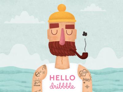 Cute Seaman character for children book