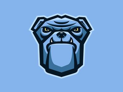 bulldog mascot logo by banndesigns dribbble rh dribbble com
