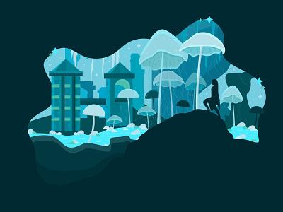 Blackreach fantasy skyrim vector design vector illustration vector graphic design illustration design