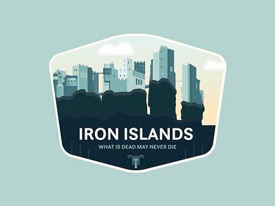 Iron Islands - Pyke fantasy pyke iron islands game of thrones flat badge icon logo branding vector graphic design illustration design