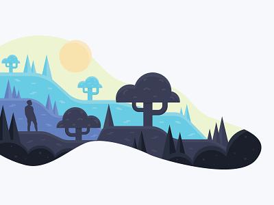 Wander wander nature vector design flat icon vector illustration vector graphic design illustration design