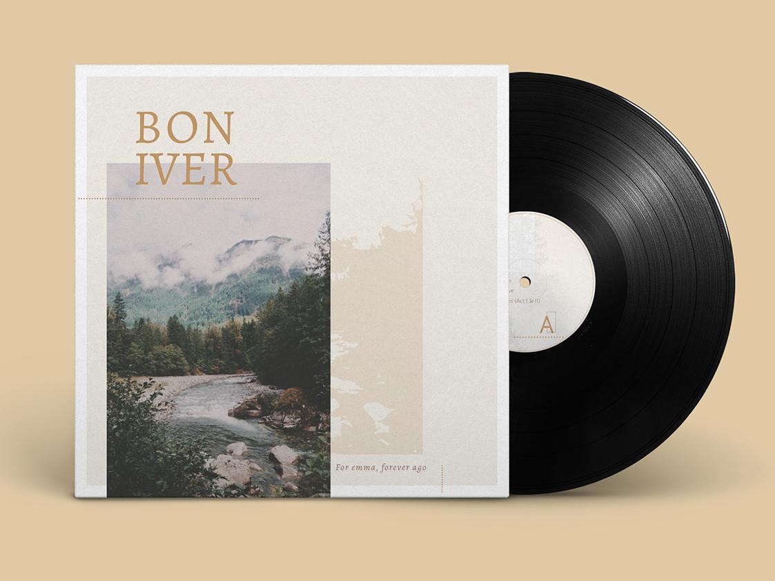 EP design clear branding music booklet design typography minimal design