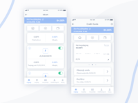 Mobile wallet app redesign