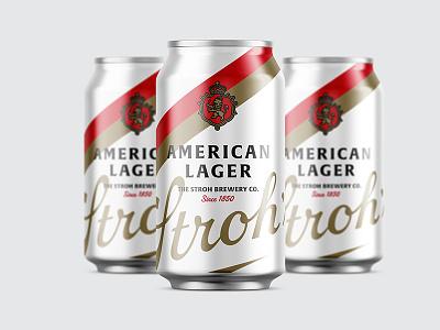 Stroh's Concept Packaging packaging can bottle bock lager strohs beer detroit