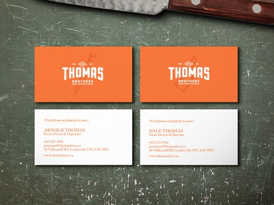 Thomas Bros Business Cards