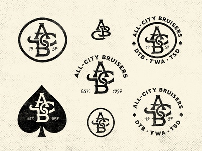 All-City Bruisers Monogram & Badge Exploration