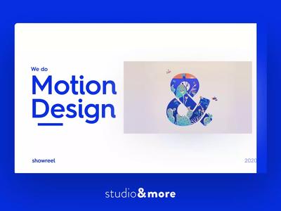 Showreel 2020 - Motion showreel vector logo illustration animation motion