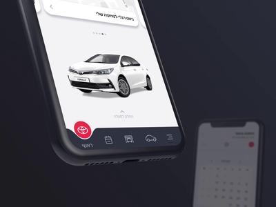 'My Toyota' mobility driver driver app garage calendar car toyota app