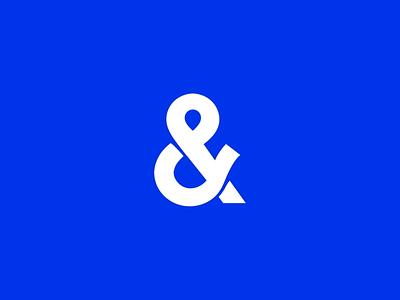 Studio&more new logo grid reveal logotype monochrome blue ampersand 3d lettering motion animation branding logo
