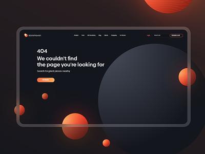 Storemaven's 404 Page uidesign uxui 404 404 error 404page webdesig website planet space gradient 3d vector web ux design ui