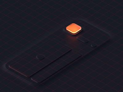Storemaven  02 motion design mobile uidesign ui augmented orange grid 3d vector gif animation design motion