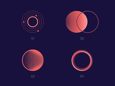 Symbol Variations design space logo variations logo design symbol design minimal icon vector branding illustration logo design