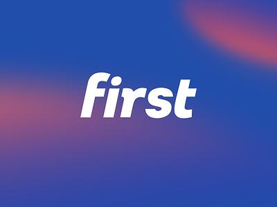 Logo Dribbble 1 color palette blue logo design first vector icon branding logo typography design