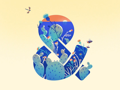 All Seasons logo studionmore gif weather spring summer winter designer ampersand creative illustration motion design seasons animation