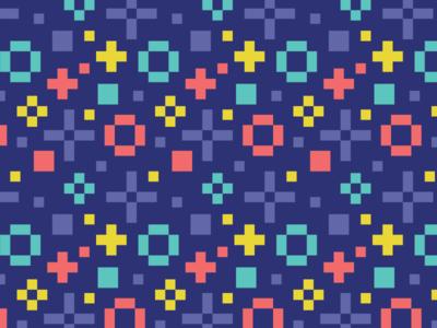 Parley Pattern pixel perfect pixel pattern quadrichromy app purple pixel art logo branding