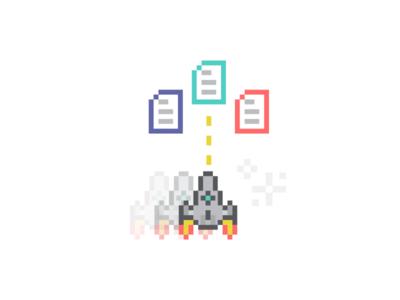 The Office branding pixel art illustration purple app quadrichromy