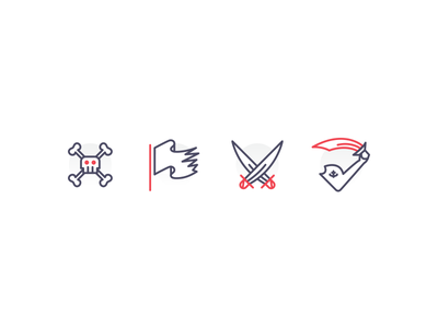 Pirates Icons iconography red illustration icons icon