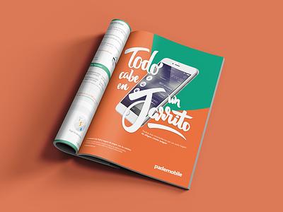 Magazine Ad mexico fintech app publicity print magazine lettering advertising ad