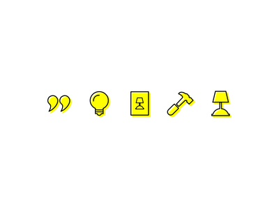Interior Design Icon Set identity branding iconography black yellow illustration icons icon